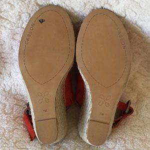 b39c71f5f47 Caslon Coral Suede Espadrille Sandals